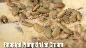 Roasted Pumpkin Ice Cream for the Holidays!