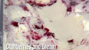 Cranberries and Cream Ice Cream for the Holidays!