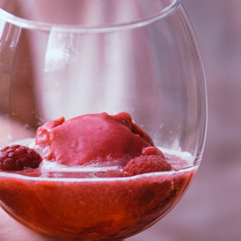 Raspberry Sorbet Cocktail