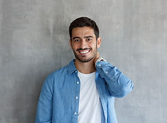 Man with Denim Shirt
