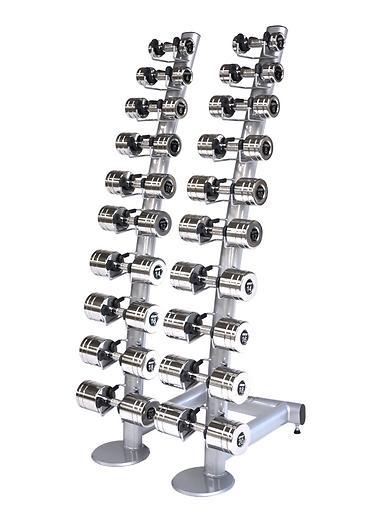 PF-R 50 Stojak na hantle chromowane lub