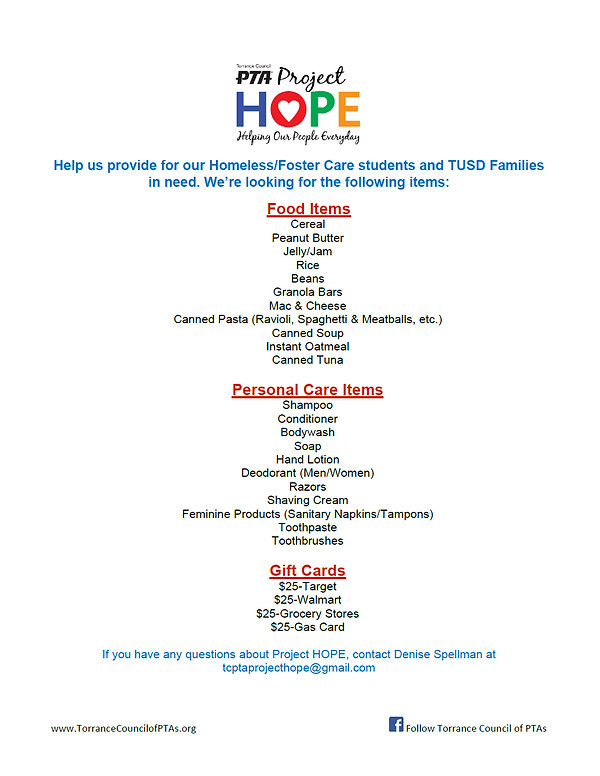 2020-2021 Project HOPE fyler donation fl