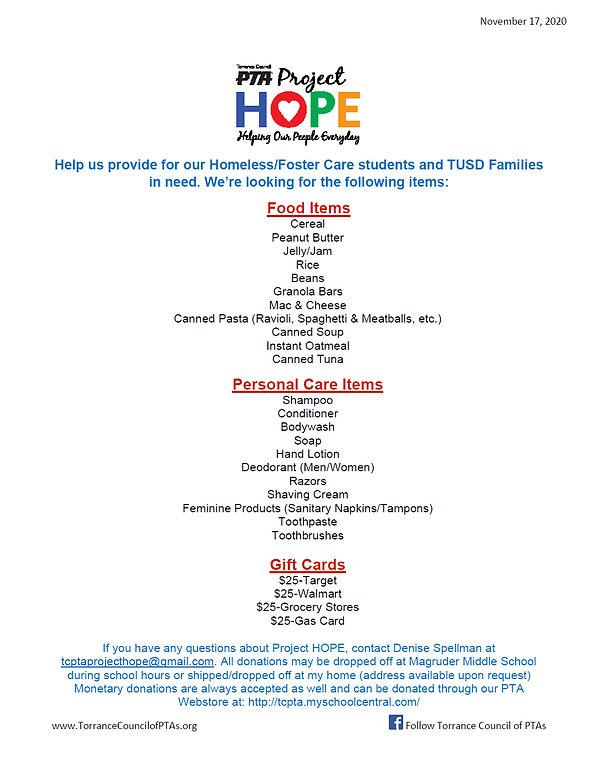 111720_ Project HOPE fyler donation flye