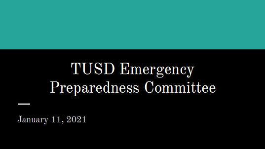 TUSD Emergency Preparedness Committee Me