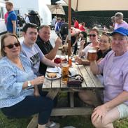 Liz, Jamie et al at Red Lion - Easter 20