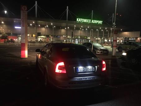 A jsme tady !  Odvoz z Katowic do Karviné.