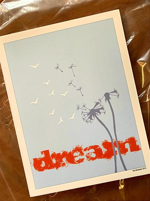 Dream/Dandelion -Print- Foam core mounted