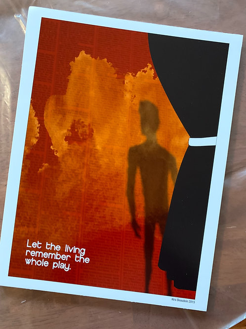 """""""Let The Living"""" Print- Foam Core Mounted"""