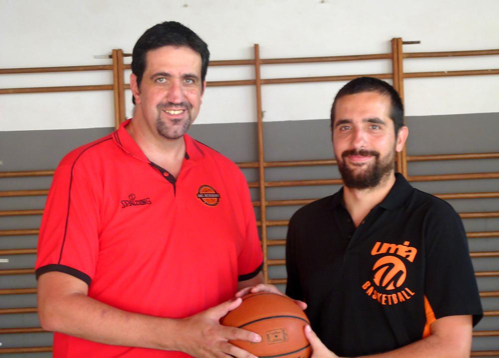 PJ Argachal, CEO of IBC Academy, and Quim Gómez, sports director of Umia