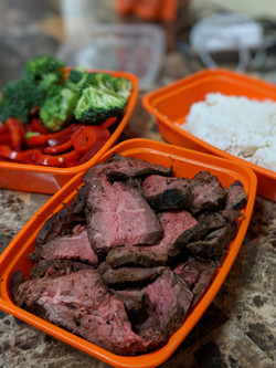 Bulk Steak with carb and veggie