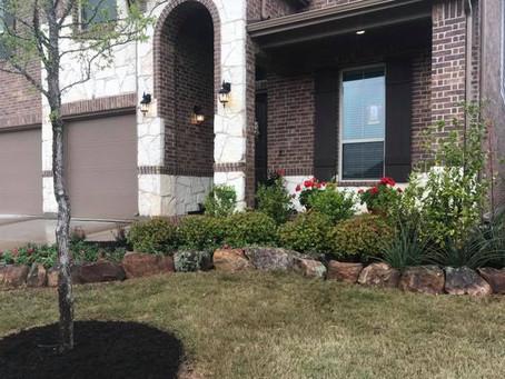 Midlothian Texas flower bed renovation
