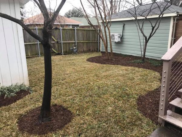 Backyard renovation in the Dallas Historic District neighborhood of Junius Heights.
