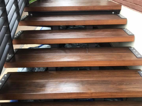 We can even stain your stairs for you!