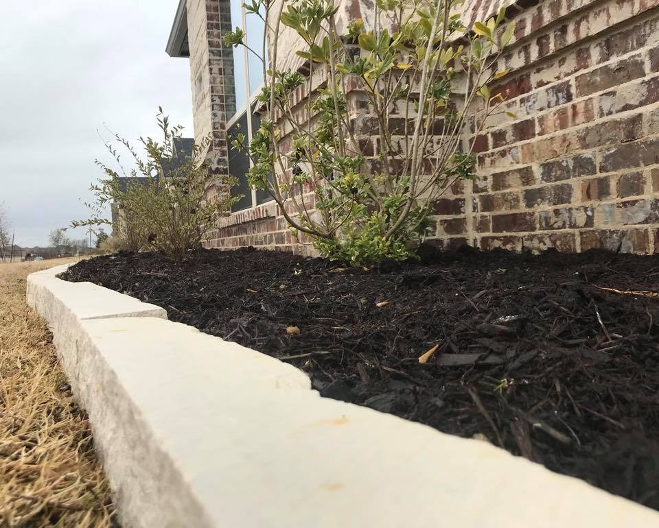 Chop Stone border installed today in our hometown of Ovilla!