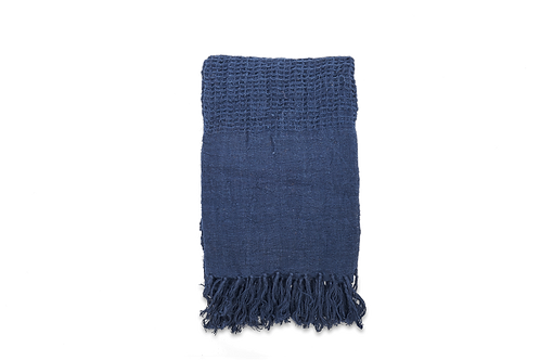 Pure Linen Indigo Throw