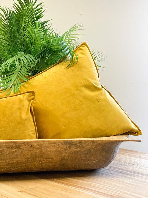 Velvet Cushion Gold