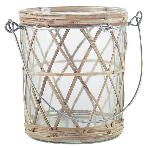 Glass Bamboo Votive