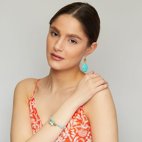 Mimosa Earrings Turquoise