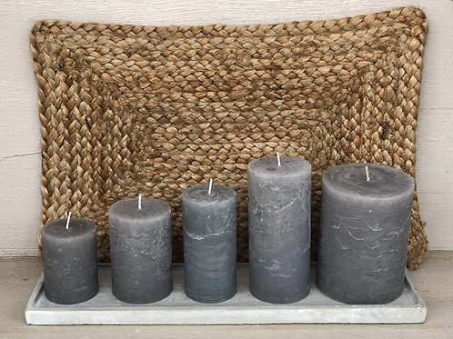 Rustic Candle Light Grey