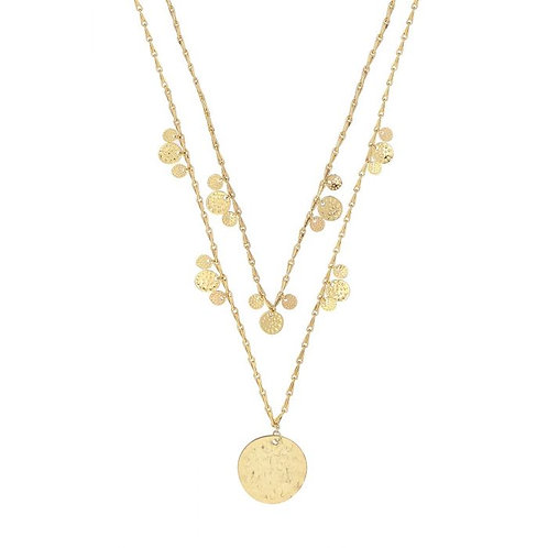 Double Layer Gold Coin Necklace