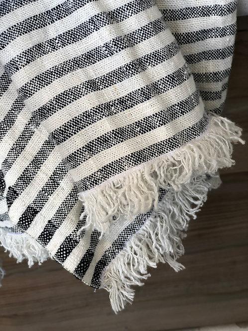 Linen Striped Throw