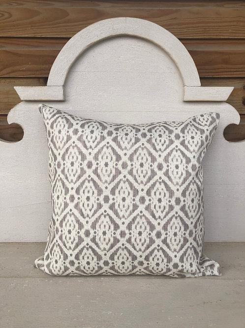 Square Printed Cushion Taupe
