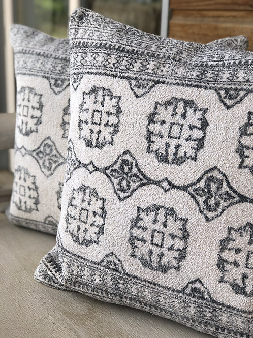 Chenille Block Print Cushion