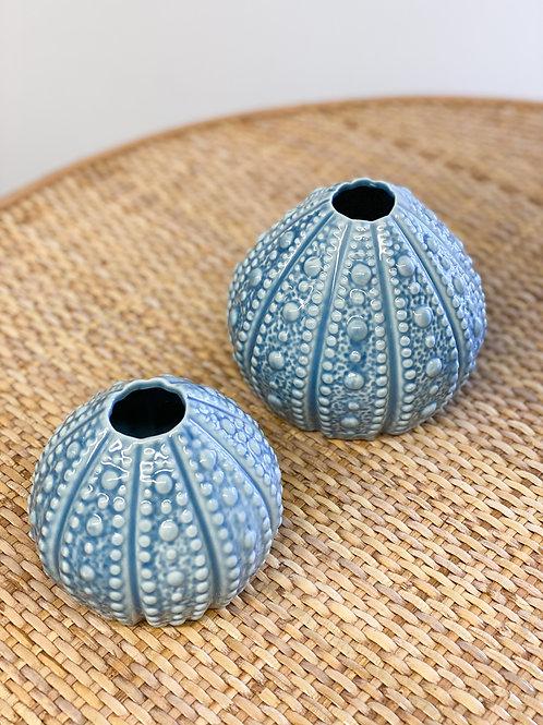 Blue Urchin Vase