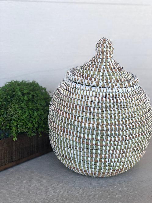 Round Lidded Basket