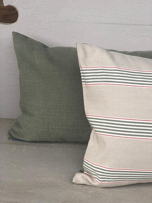 Green Stripe Cushion