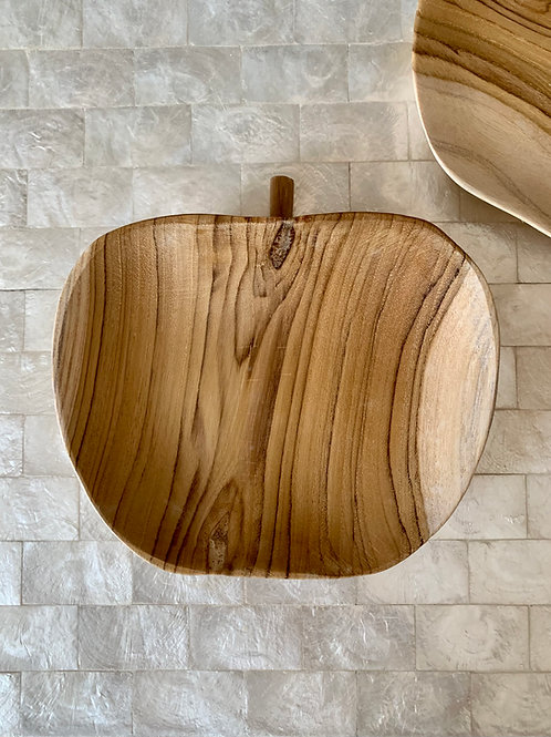 Wooden Apple Bowl