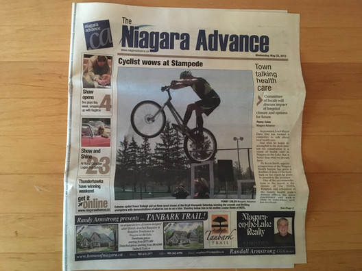 NIAGARA ADVANCE NEWSPAPER