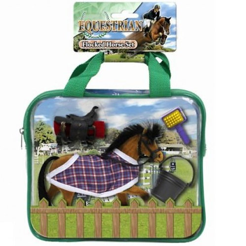 Flocked Horse with Carry Case