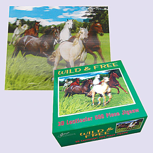 """Wild & Free"" 3d 500 Pc Jigsaw"