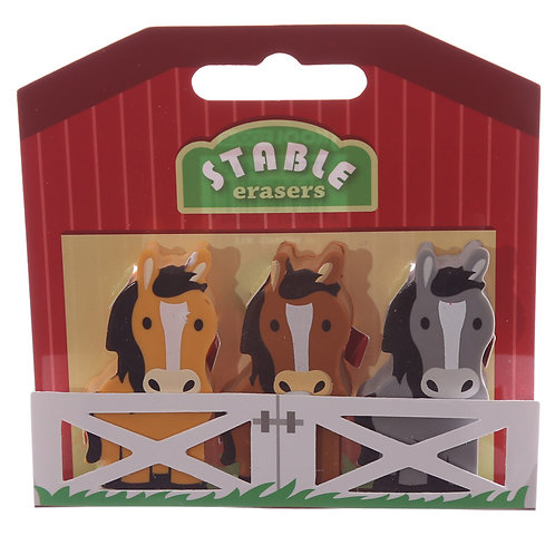 Pony Stable Eraser 3 Piece Set