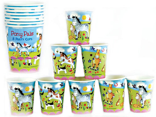 """""""Pony Pals"""" Pack Of 8 Party Cups"""
