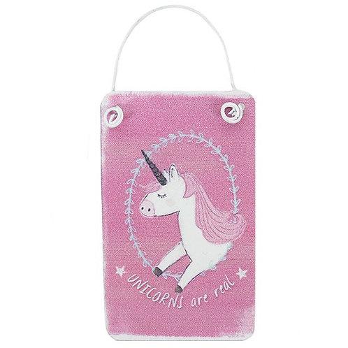 Mini Pink Unicorn Metal Sign