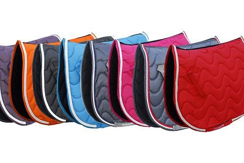 Rhinegold Wave Matchy Set - Saddle Pad/Fly Veil/Bandages