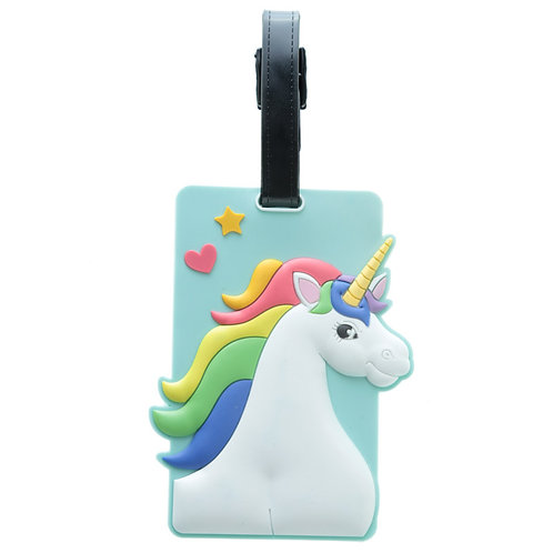 Unicorn PVC Luggage Tag