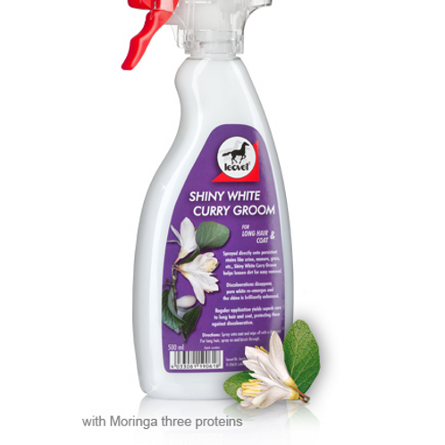 Leovet Shiny White Curry Groom Spray 500ml