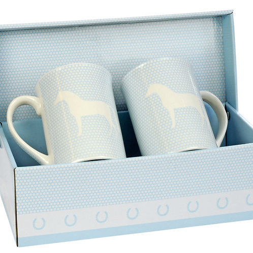 HappyROSS Blue China Mug Set