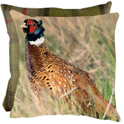 "Cushion ""A Moments Peace"" with tweed reverse"