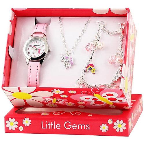 Little Gems Unicorn Charm Set - Watch/Bracelet/Necklace