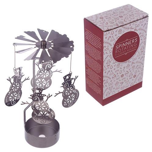Snowman Tea Light Spinner