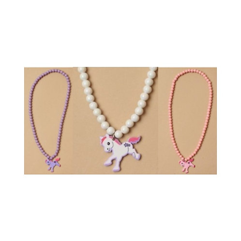 Elasticated Pony Charm Necklace