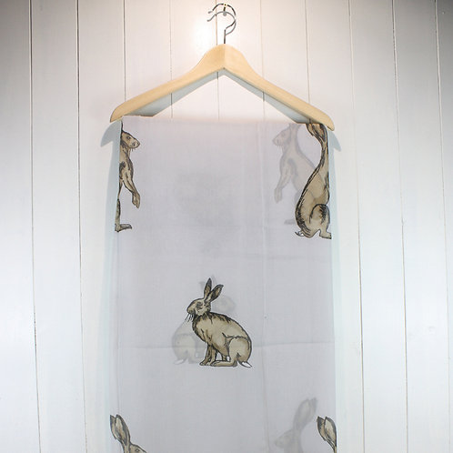 Scarf Hare Light Grey