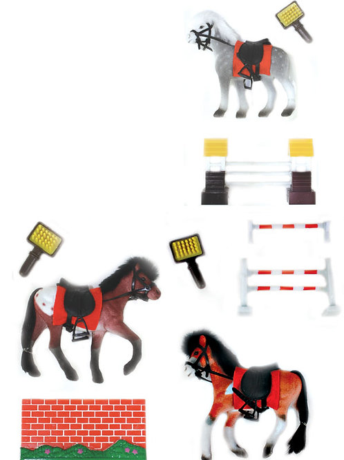 Flock Horse With Fence Play Set