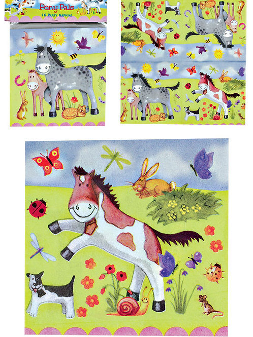 """Pony Pals"" Pack Of 16 Party Napkins"