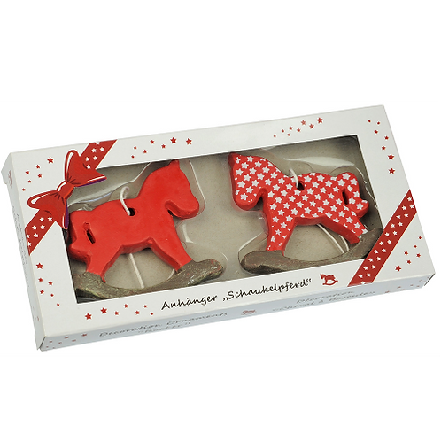 HappyROSS Rocking Horse Ornaments (Pack of 2)