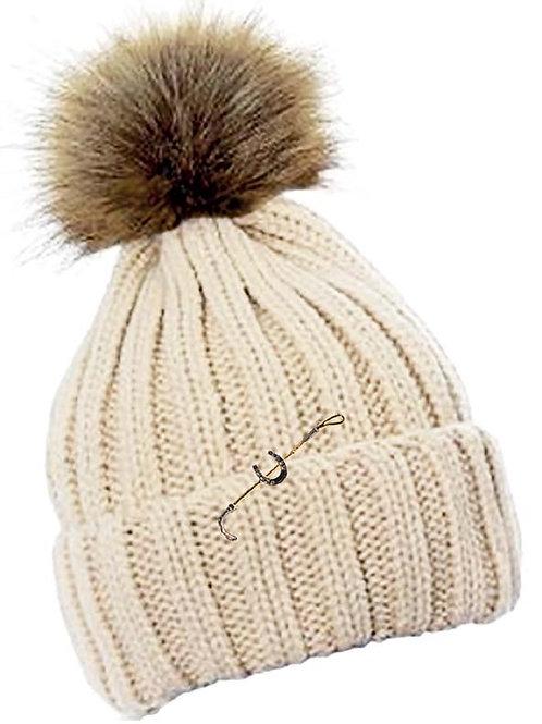 Crochet Fur Bobble Hat